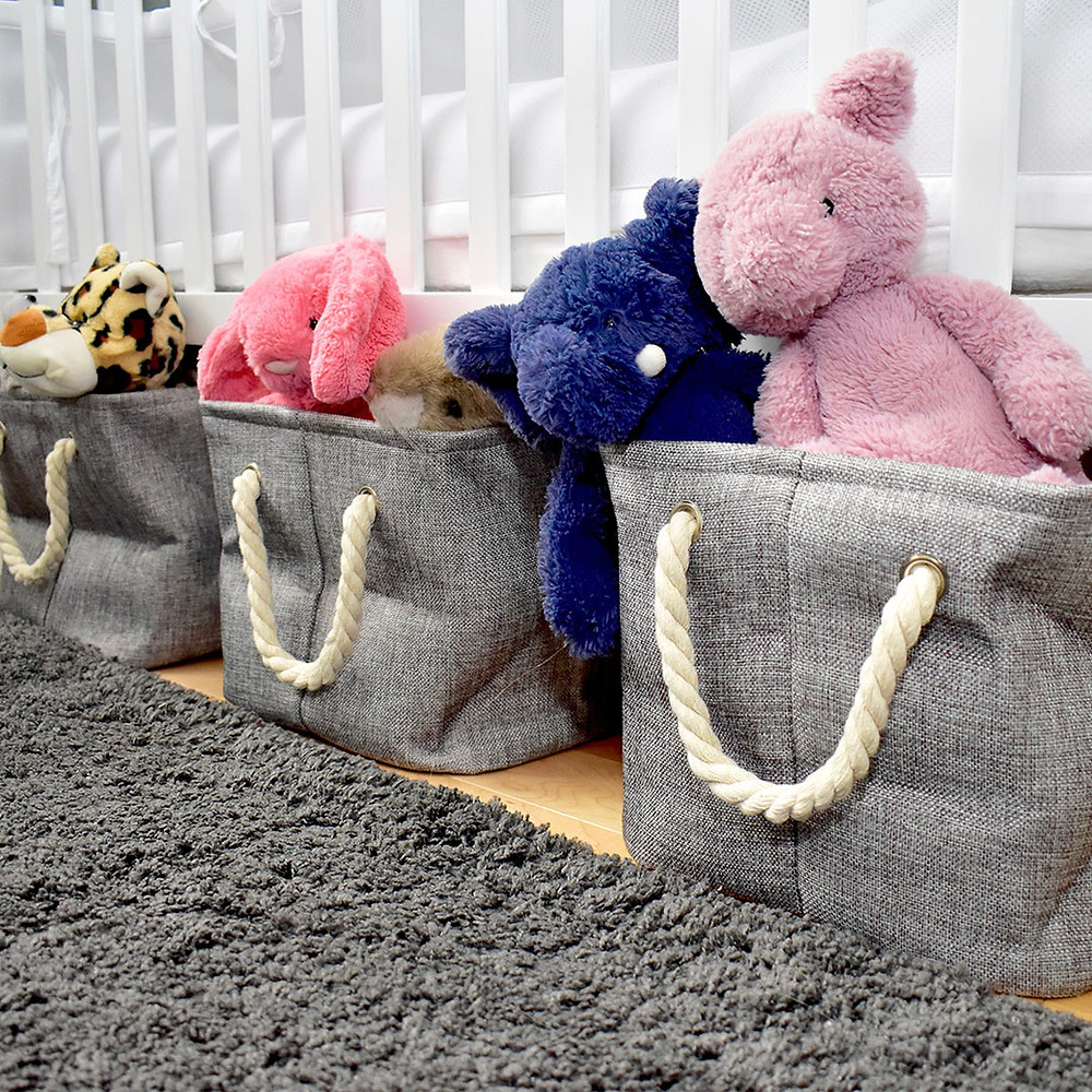 Storage baskets for baby toys