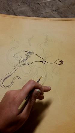 Octopus Brush Work