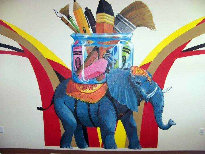 Elephant of the Art Room Mural