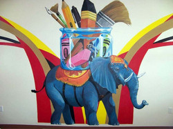 Elephant of the Art Room Mural