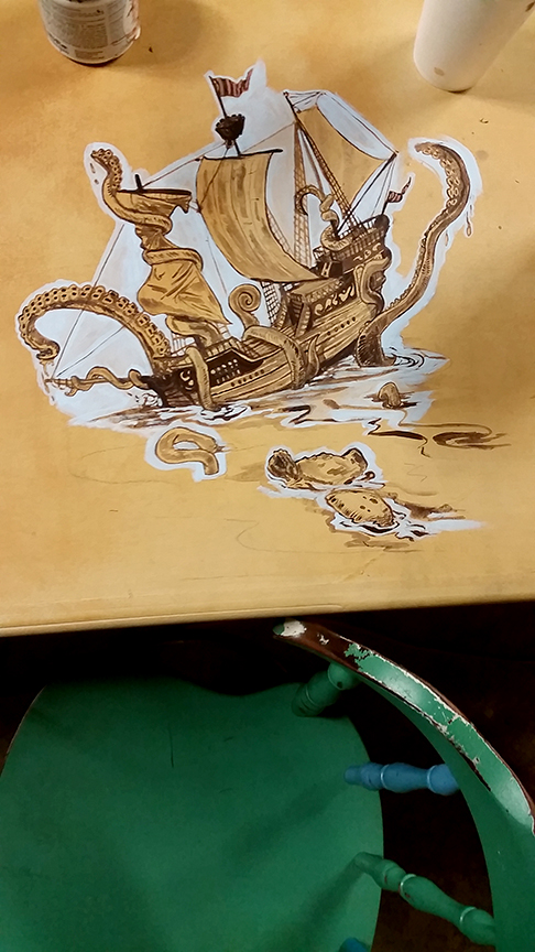 Pirate Ship and Kraken - Complete