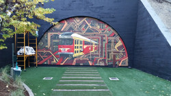 Belmont Station Train Mural