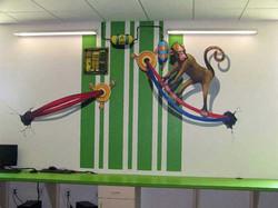 Techno Monkey Mural