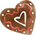 Chocolate Heart cookie fo Valentines day in Banchory