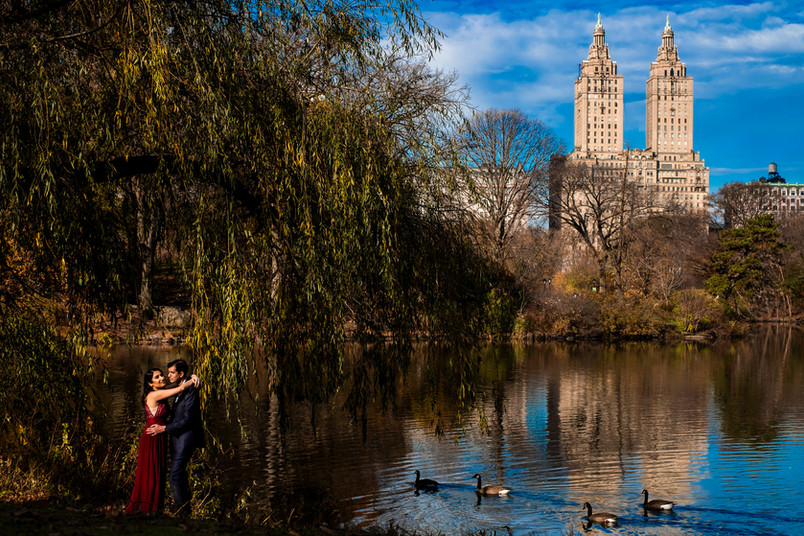 Central Park Fall Engagement Shoot at Bethesda Fountain and Terrace