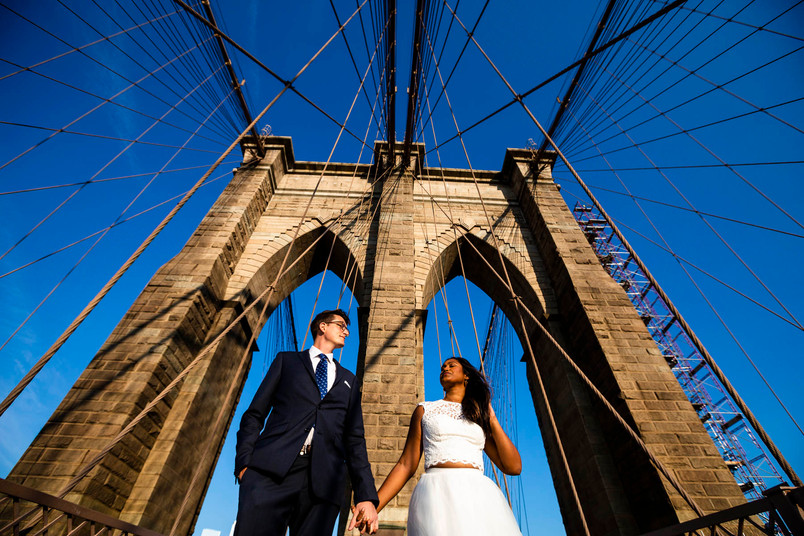 Shaily and Tom's Brooklyn Bridge Elopement
