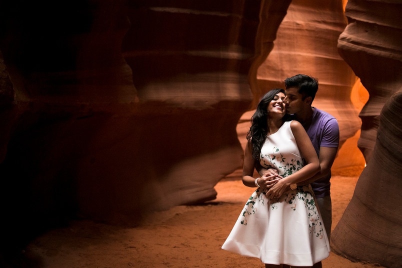 Serena and Ajay- Antelope Canyon