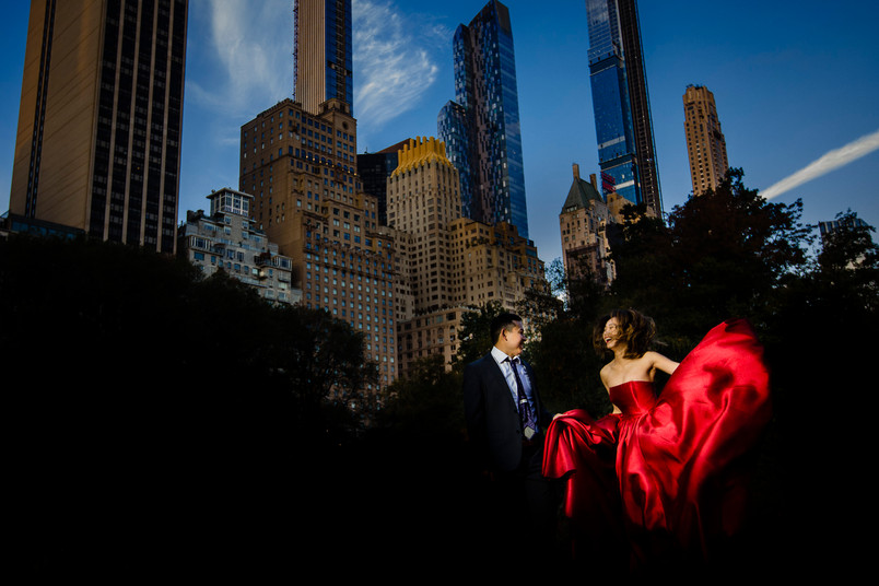 Amilea and Peter- Central Park engagement session