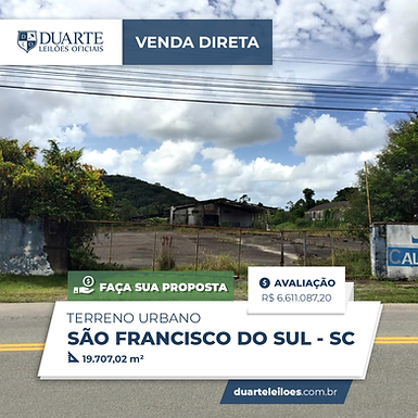 Terreno Urbano - São Francisco do Sul, SC
