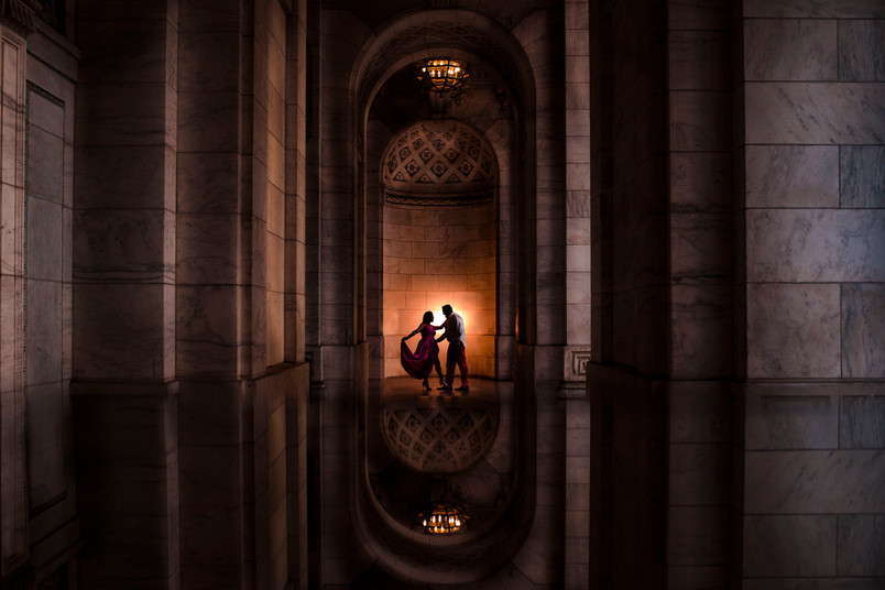 New York Public Library Engagement Shoot