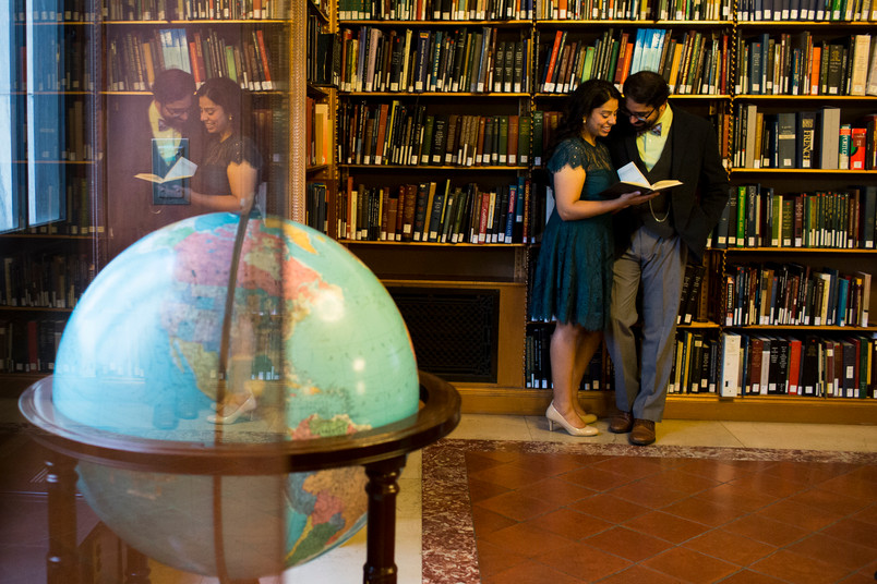 Hirangi and Yatri, New York Public Library Engagement shoot
