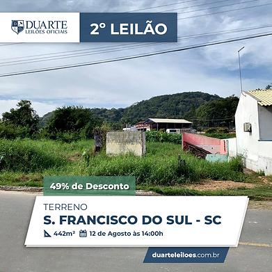 Terreno em Porto Belo | Leilão