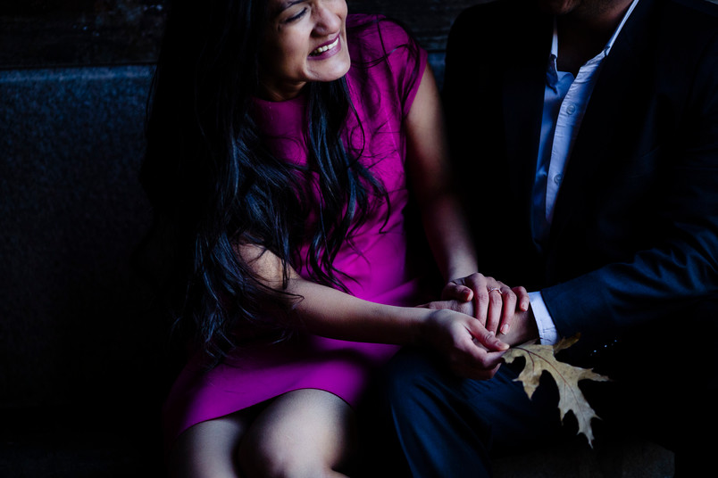 Akansha and Rishanth- Fall Shoot in Central park