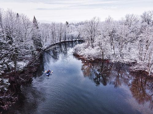 Kayak d'hiver