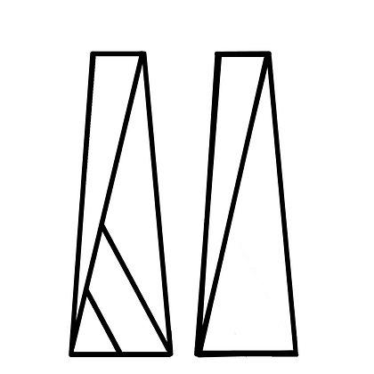 стойки для цветов треугольные аренда аренда  декора стойки геометрия