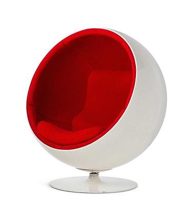 Кресло шар белый