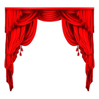 театральный занавес красный аренда бархатный занавес красные портьеры бархатная драпировка