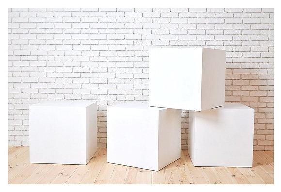 Куб белый матовый 30см