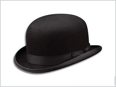 котелок шляпа черный фетр  аренда