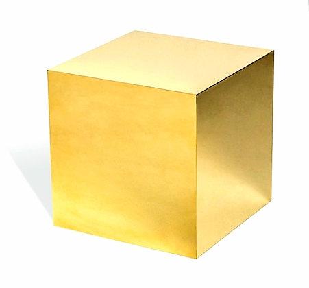 Куб зеркальный золотой 30см