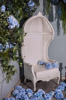 Кресло белое глянец