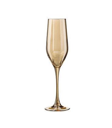 Бокал для шампанского золотой хамелеон