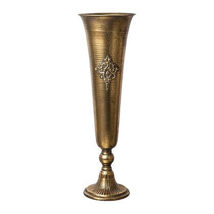аренда  декора  для свадьбы кубок узкий золотой вазон