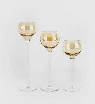 аренда  декора вазы золотые на  ножке