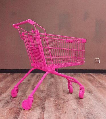 Тележка супермаркет розовая
