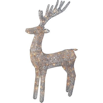светящийся серебряный олень для фотозон фигура оленя светится