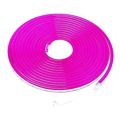 Неоновый шнур розовый 5м
