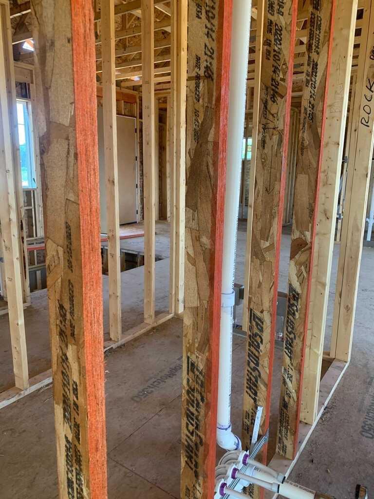 LSL lumber framing home