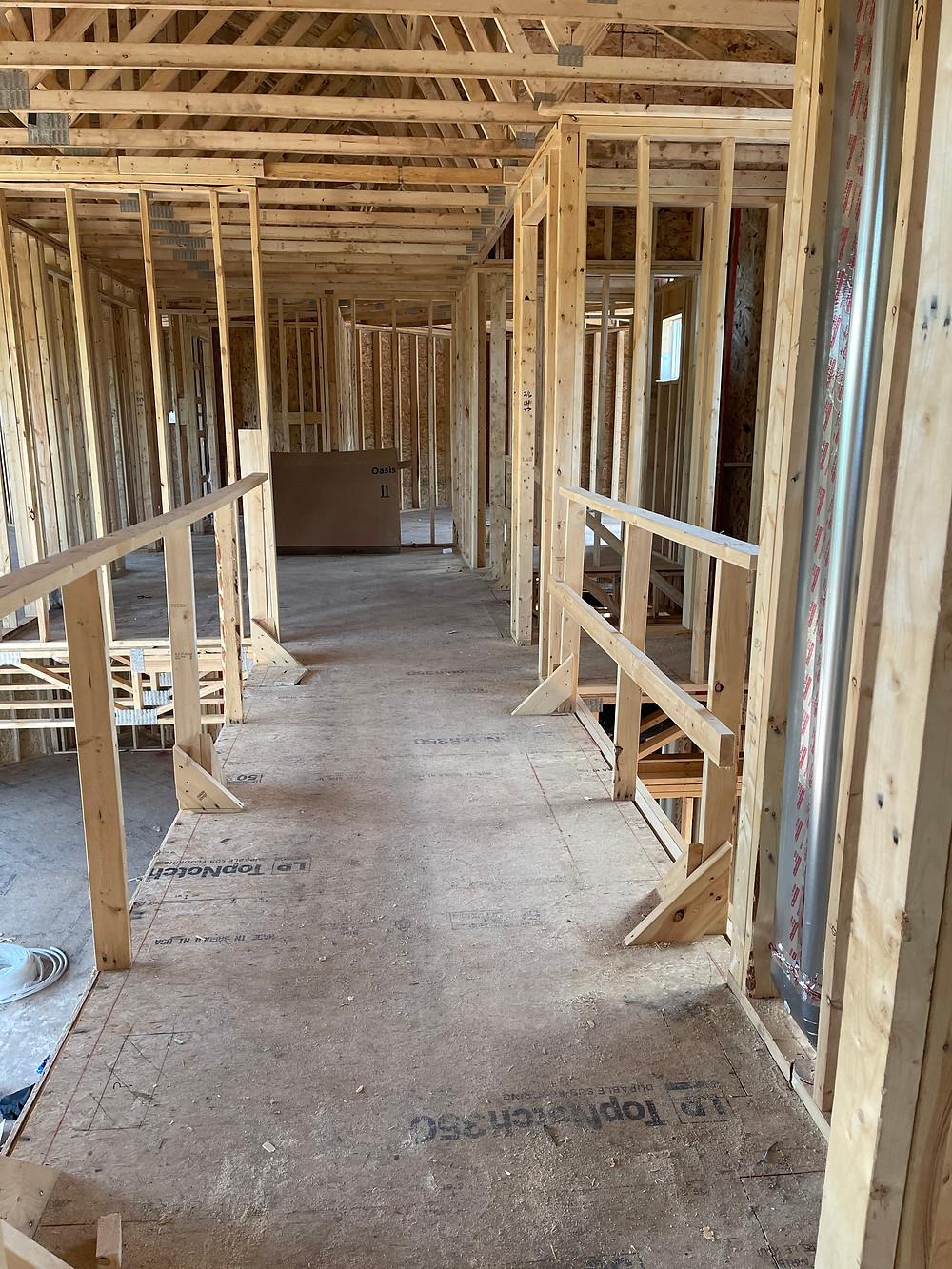 Framing construction home