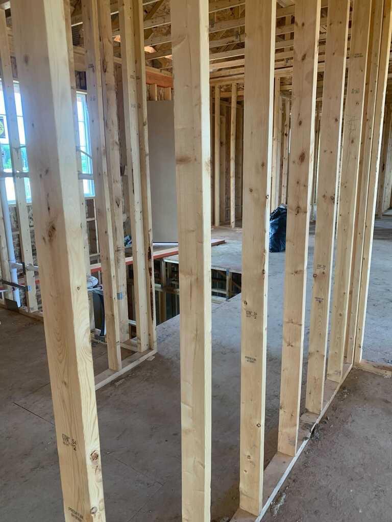 LSL lumber home framing