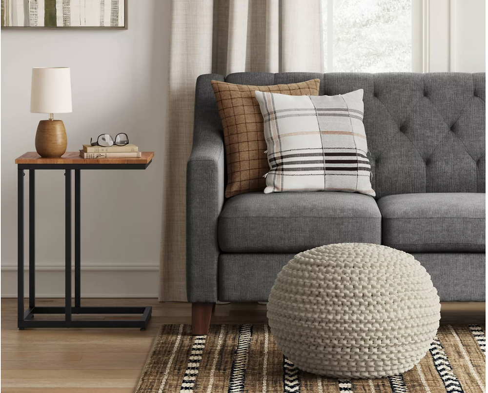 pouf couch living room