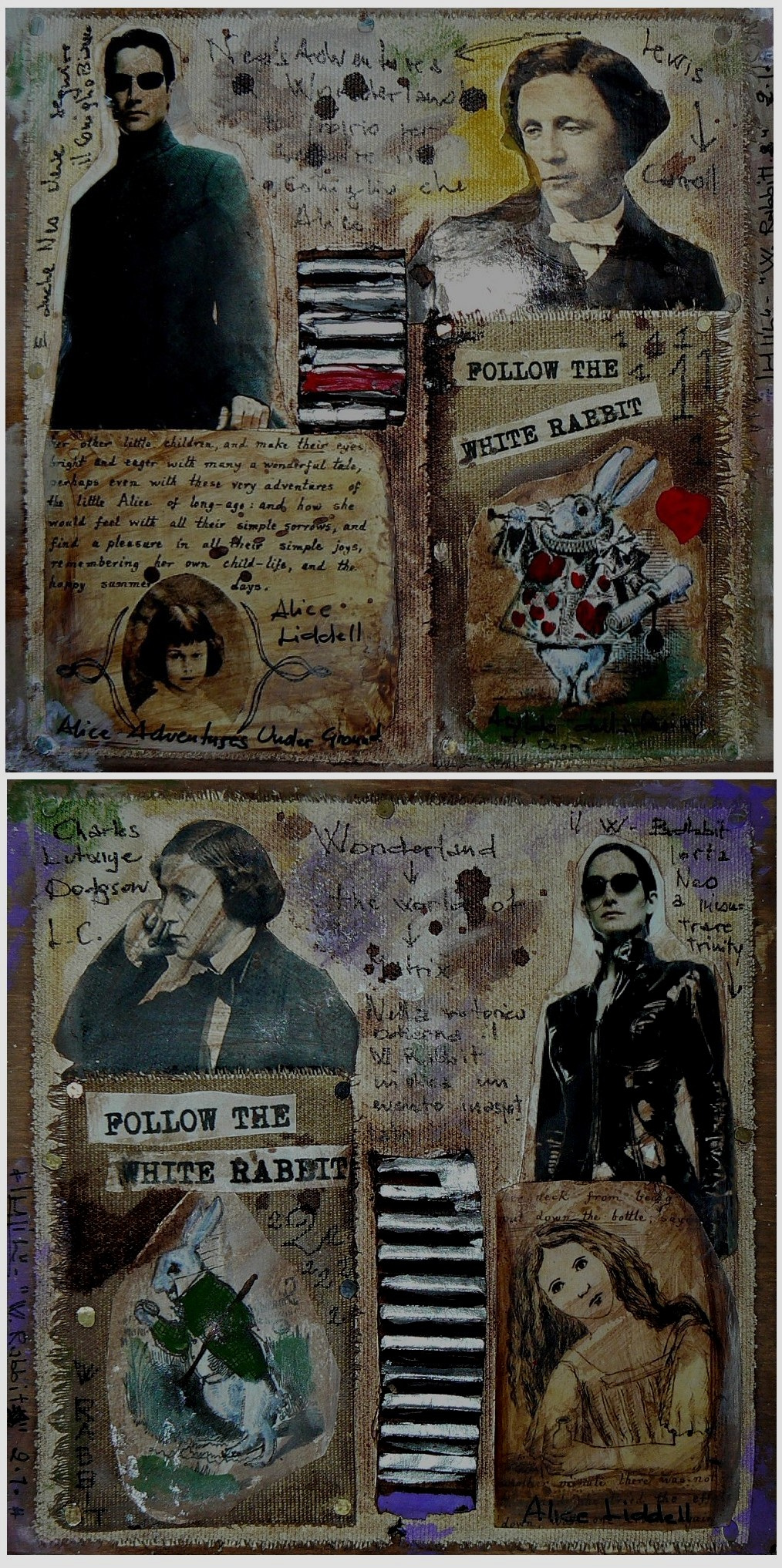 FOLLOW THW WHITE RABBIT (DIPTYCH)