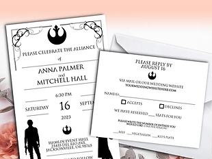 Etsy wedding invitations   Star wars wedding invitations   unique wedding invitations   e wedding invitations   Custom wedding invitations