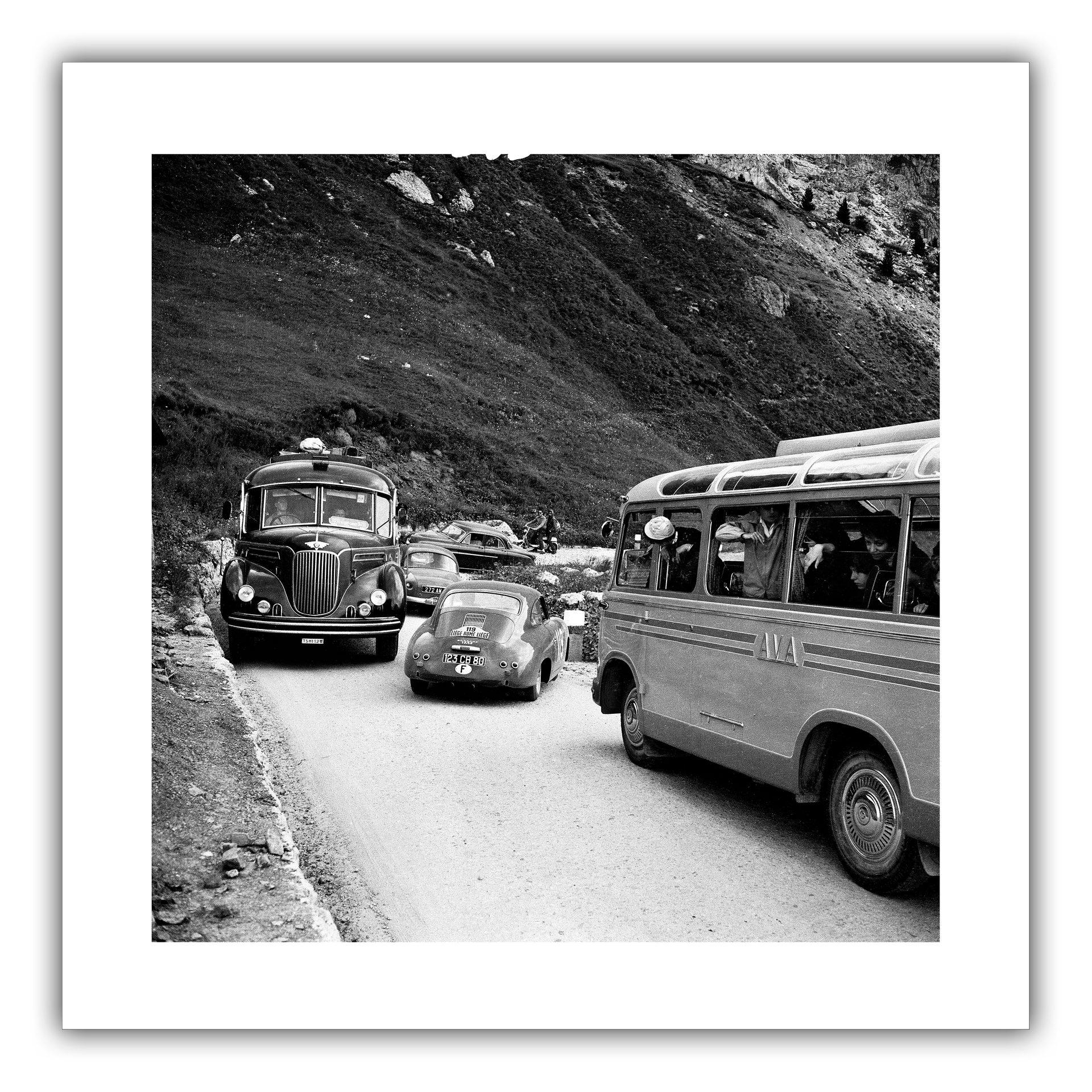 Traffic at Liege-Rome-Liege 1955