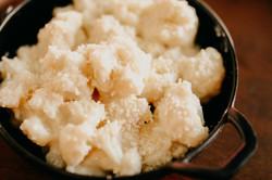 Coliflor con bechamel y queso gratinado