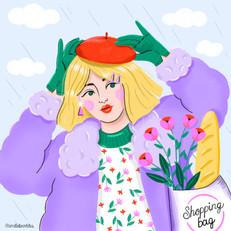 Raining girl ameliebroddes©