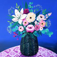 Le vase en fleur