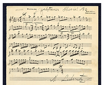 Manuscript for tune recorded as Yidish Khusidl, in the collection of Max Leibowitz (Library of Congress, USA)