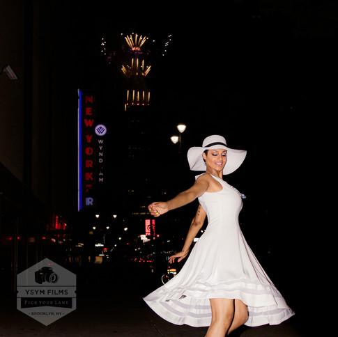 Rosa Macy's Twirl Calvin Klein Dress No