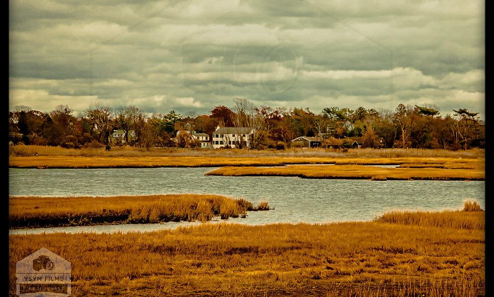 Far Rockaway Queens shore line. Fall shot post cards