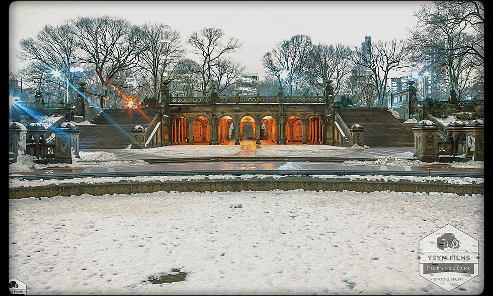 Bethesda Terrace high angle night shot .... Central Park NYC.