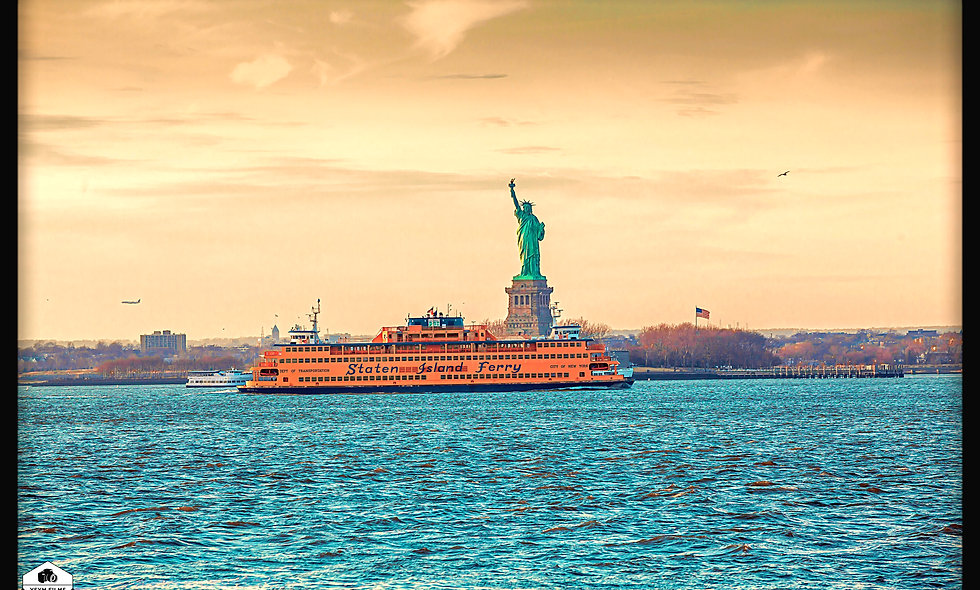 Staten Island Ferry & Lady Liberty....NYC, Postcards pack of 20