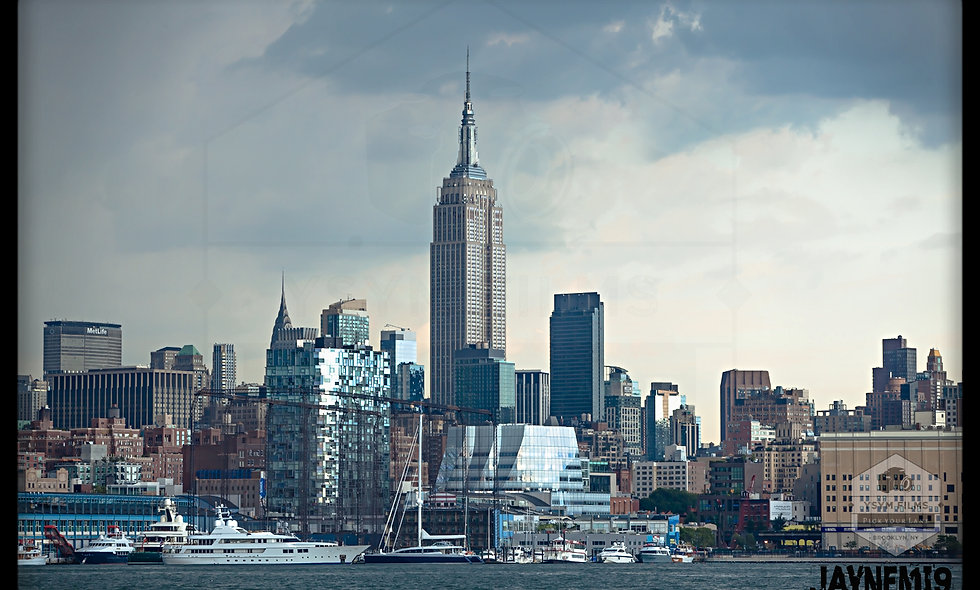 24 x 36 Empire State Building overlooking Chelsea piers Portrait
