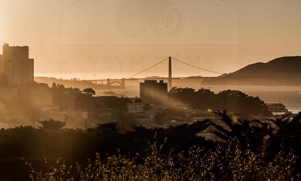 Post card - San Francisco Golden Gate Bridge During Golden Hour