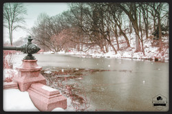 Frozen lake  Prospect park lakeside Brooklyn 2