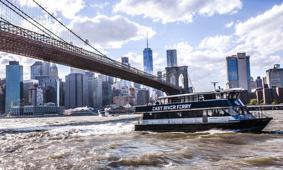 24 X 36 East River Ferry, Brooklyn Bridge and Freedom Tower
